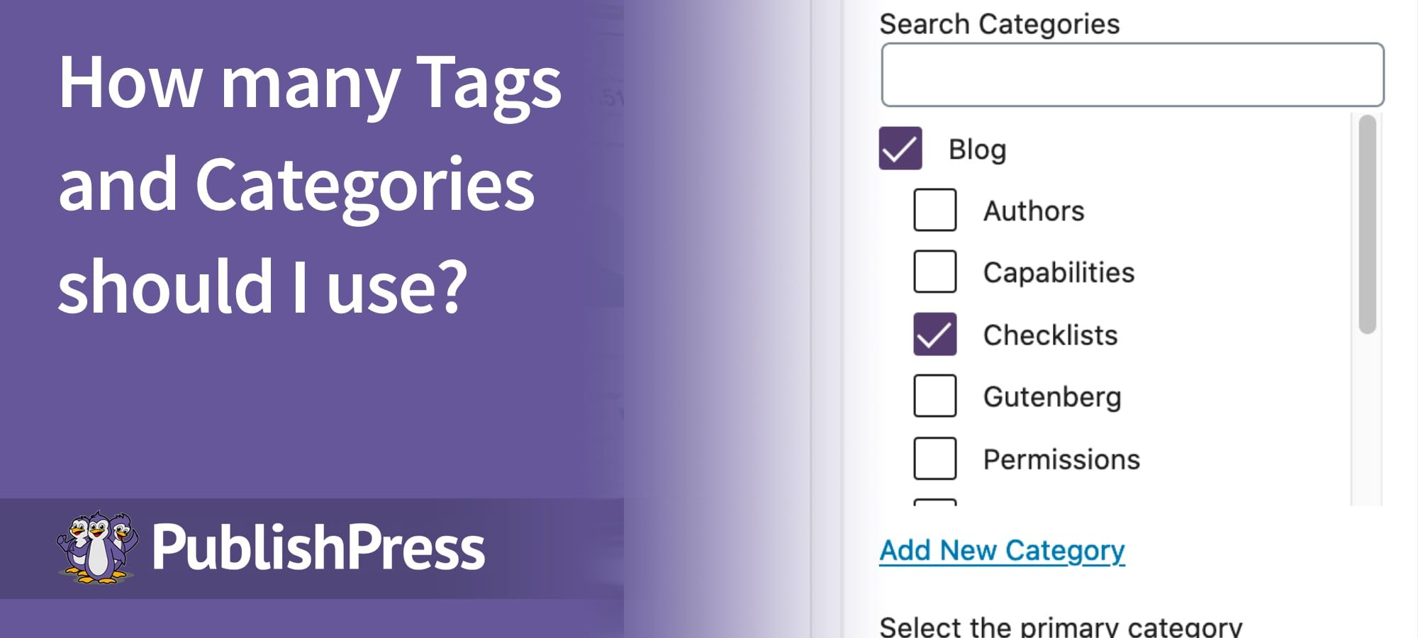 Tags Categories
