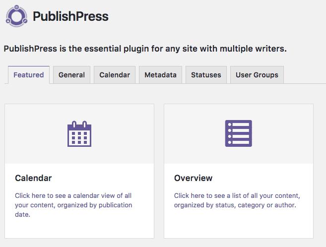 PublishPress settings
