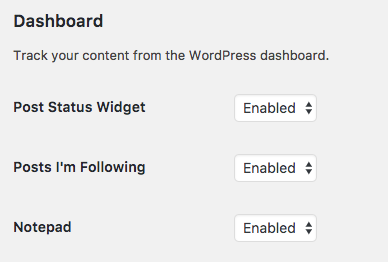 Disable widgets in PublishPress