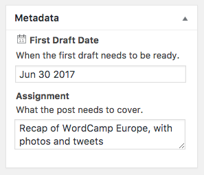 Edit metadata with PublishPress