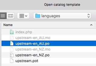 choose existing .po translation files