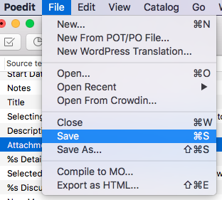 export from Poedit