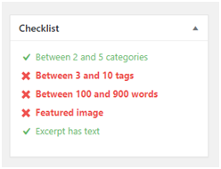 Checklist Items Turning Green