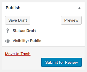 Pending Review and Draft options in WordPress