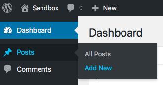 Contributor create new posts WordPress dashboard