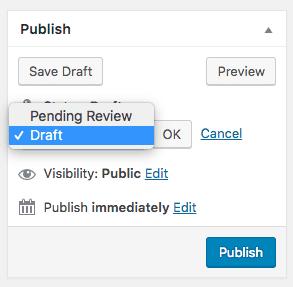 Pending Review and Draft statuses in WordPress