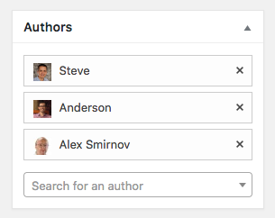 Choosing multiple authors for a WordPress post
