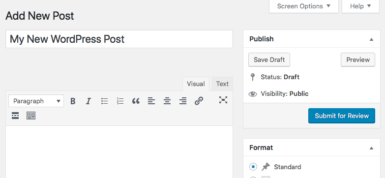 Users with Edit Posts permission in WordPress can create posts