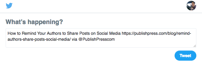 Tweeting a WordPress post