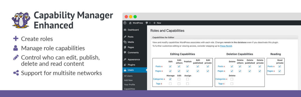 The Capability Manager Enhanced plugin for WordPress