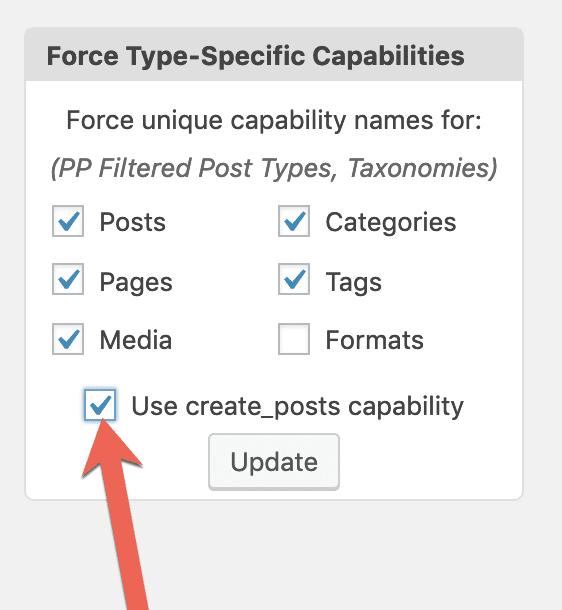 Force Type-Specific Capabilities in WordPress
