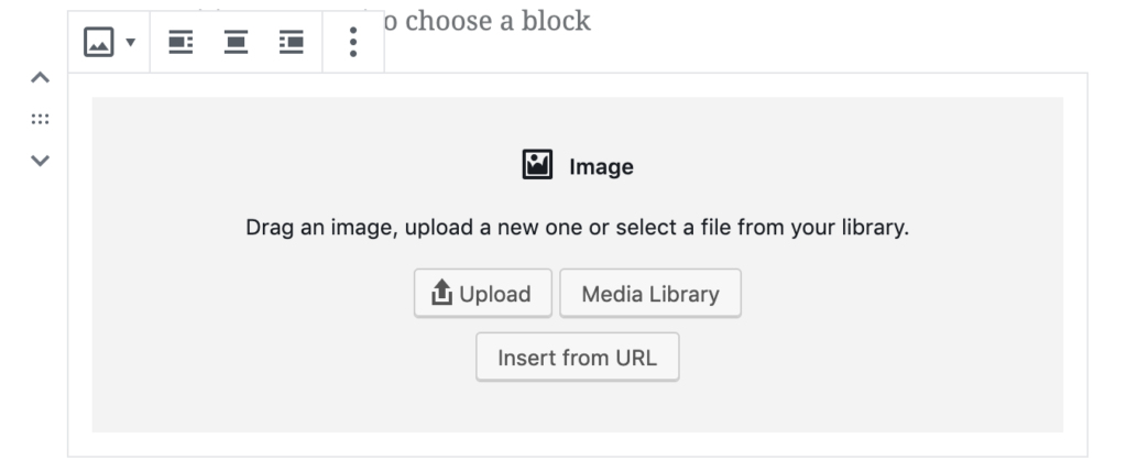Upload an image to a Gutenberg block