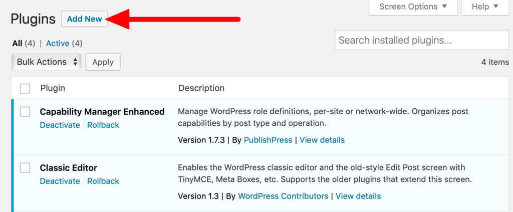Wordpress Role Manager Plugin