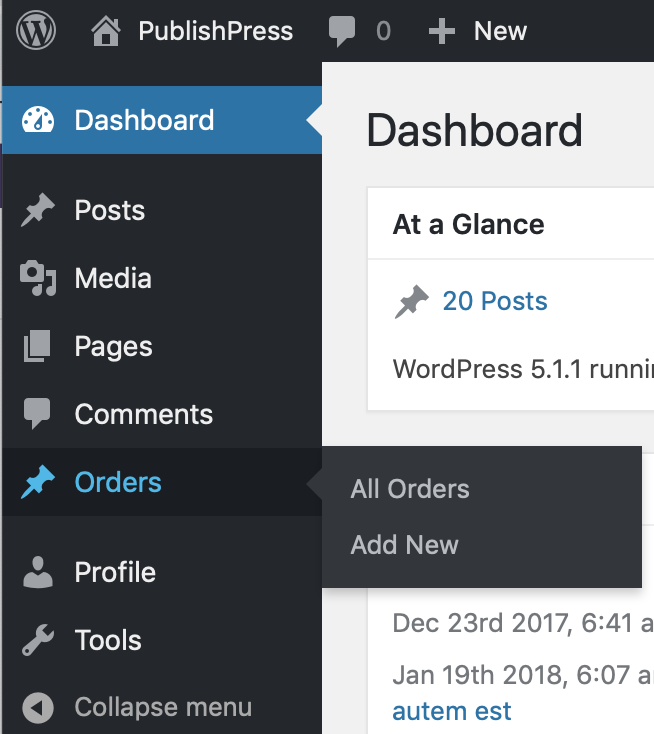 Add permissions to WooCommerce orders