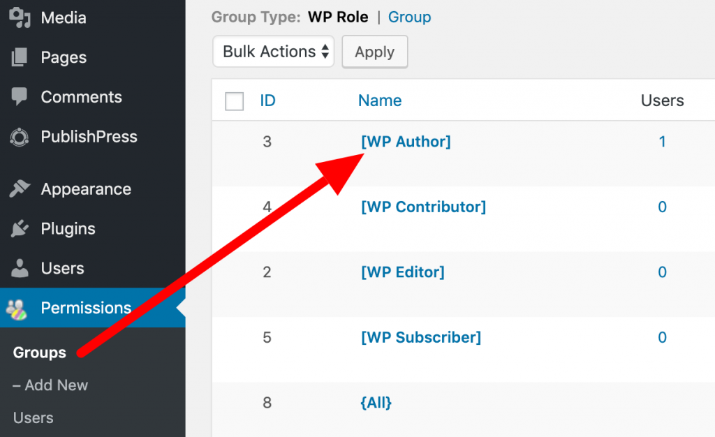 Edit the WordPress Author role