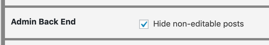 Hide non-editable posts in WordPress