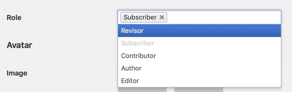 WordPress user can't create Administrator account