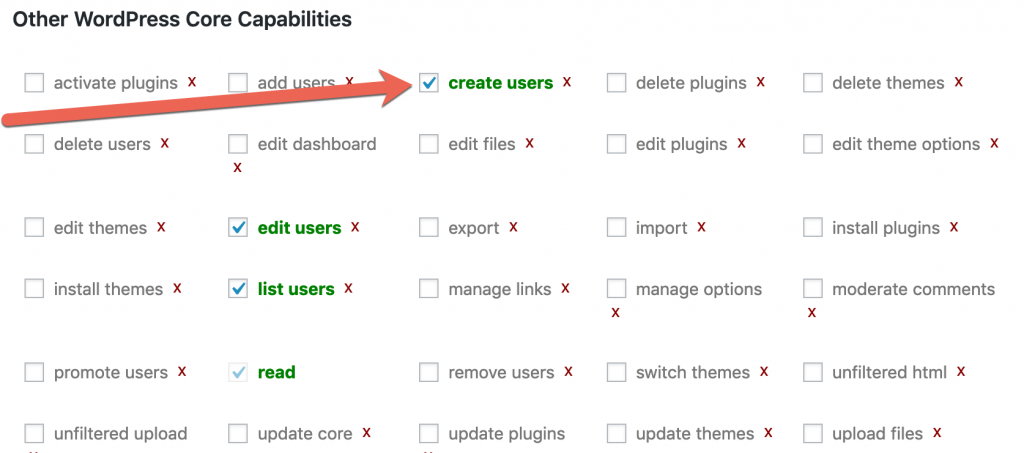 create_users permission in WordPress