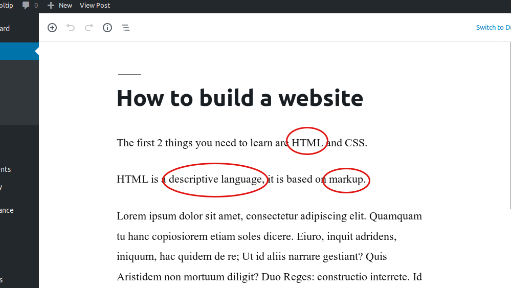 Terms linking to words in the Glossary plugin for WordPress posts