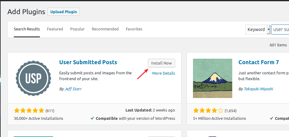 Installing User Submitted Posts