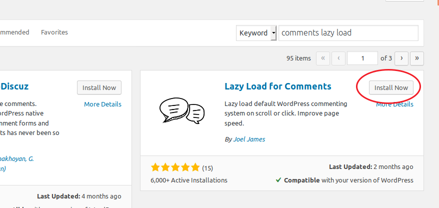 Installing the Lazy Load for Comments plugin
