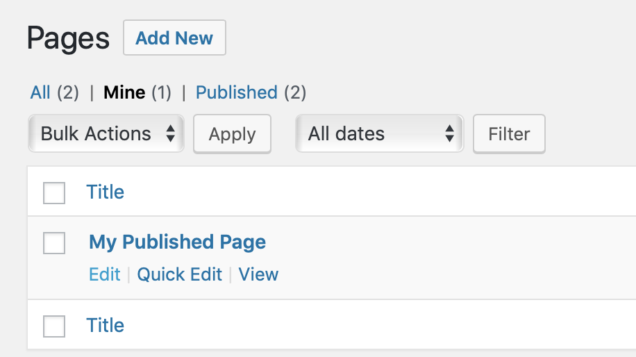 Editing permissions given by the  edit_published_pages permissions