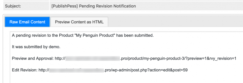 WooCommerce revisions email notification
