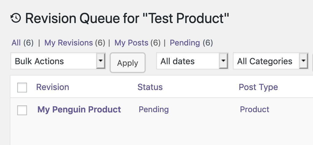 WooCommerce Revision Queue in PublishPress Revisions Pro
