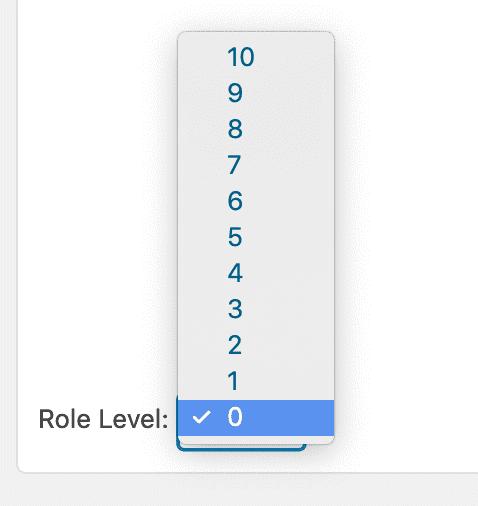 Editing WordPress role levels
