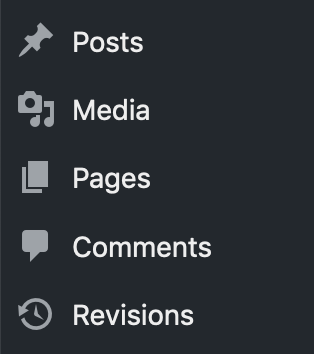 Revisions can be accessed using the Revisions menu link in WordPress