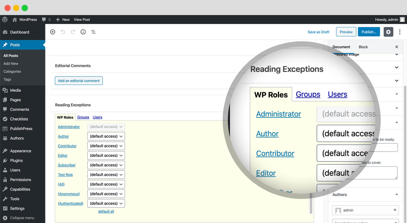 Add all your authors in WordPress
