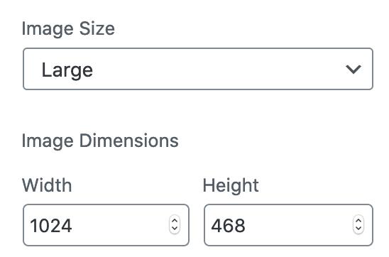 Choosing the image sizes in Gutenberg