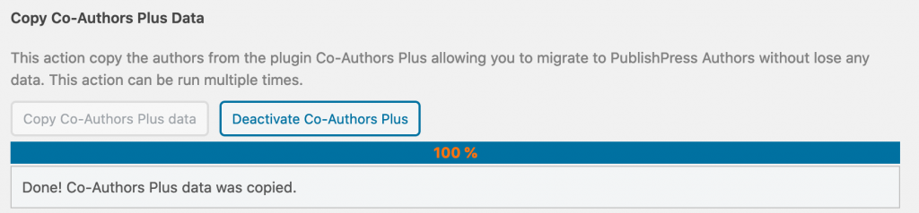 Import finished from Co-Authors Plus  to PublishPress Authors
