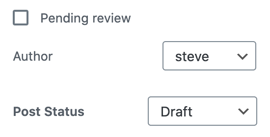 Draft and pending review