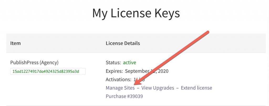 Deactivate License