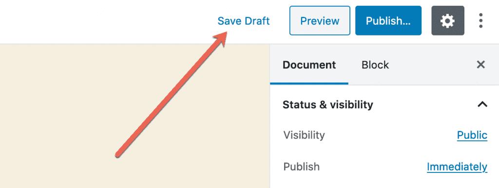 Draft Status Button