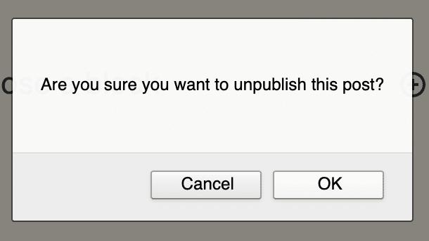 Unpublish a WordPress Post