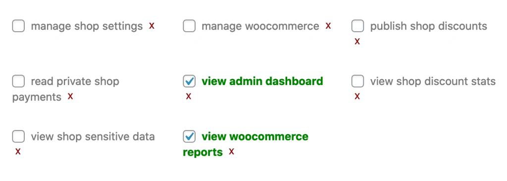 Woocommerce Reports Permission