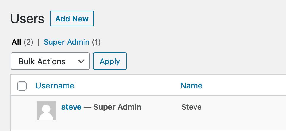 Super Admin Display