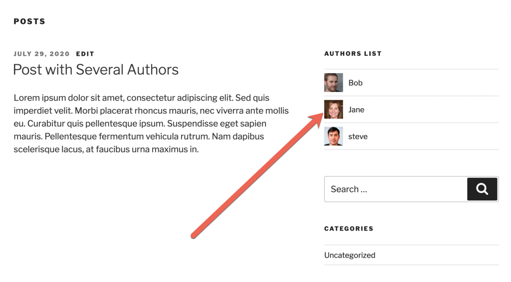 Authors List Frontend