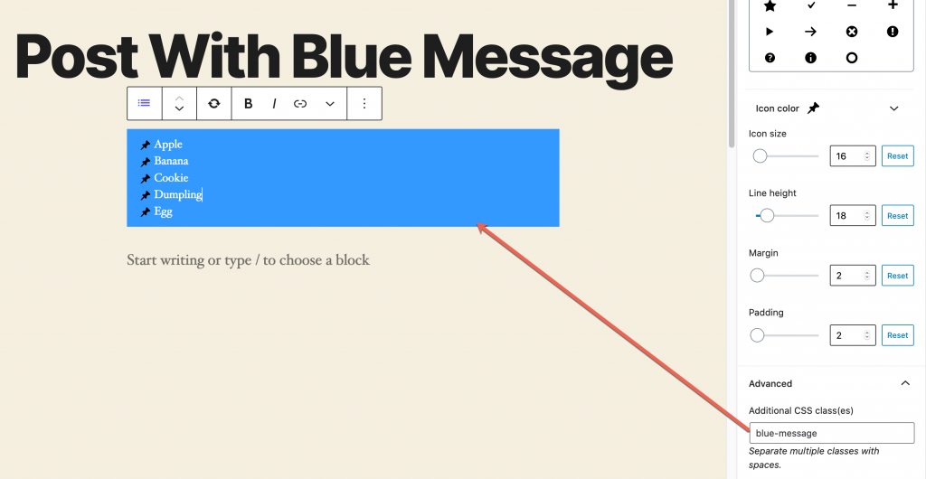 Blue Message