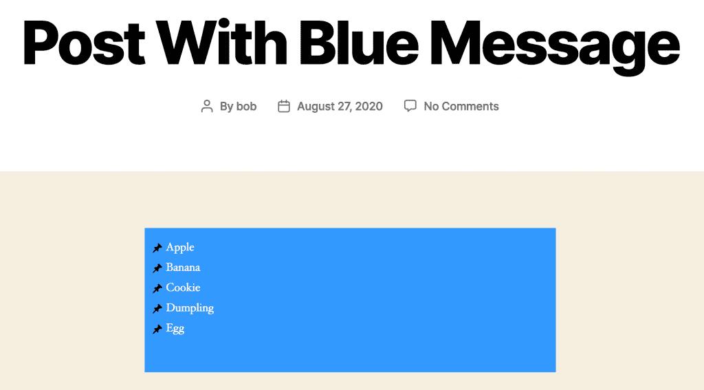 Blue Message Front