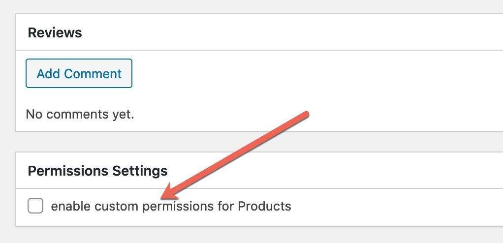 Custom Permission Products