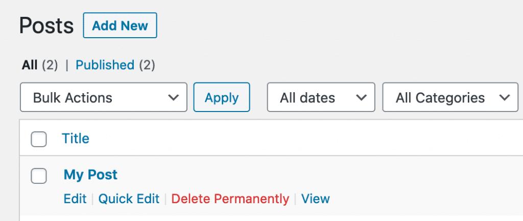 Delete Permanently