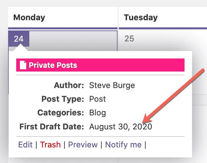 Metadata Calendar