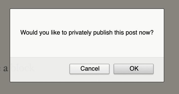Privately Publish