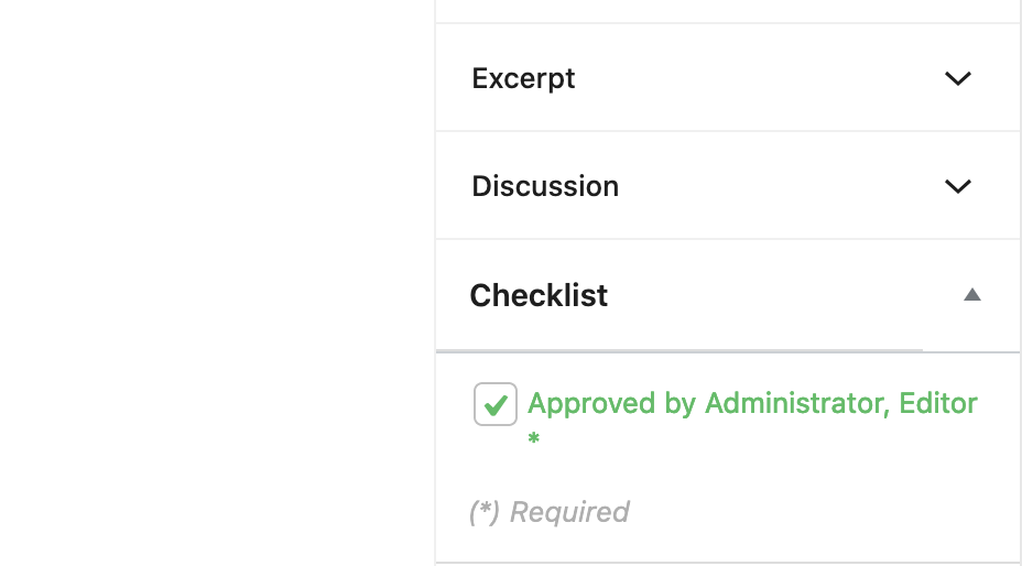 Approved Checkbox User Role
