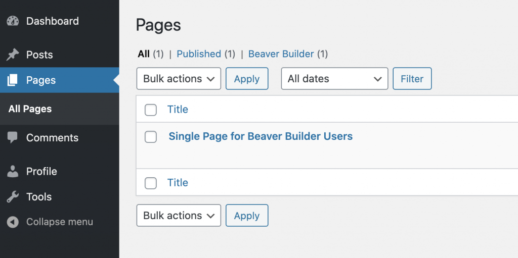 Beaver Builder Page