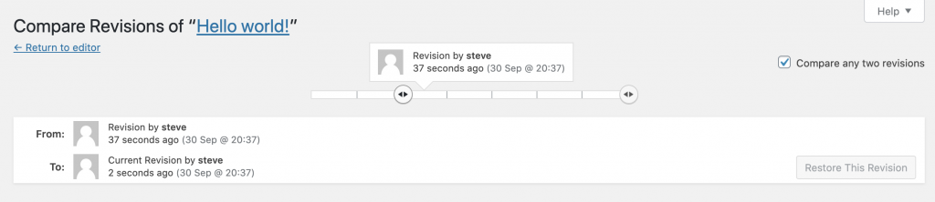 Compare Any Two Revisions