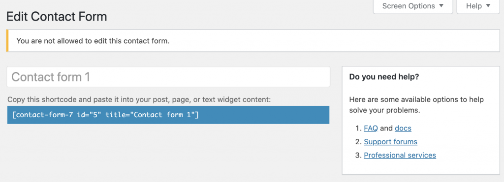 Contributor Contact Form 7